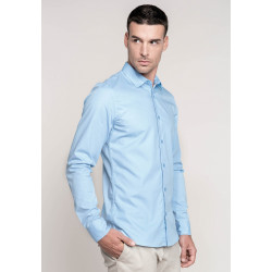 Chemise popeline Manches longues Homme-KARIBAN