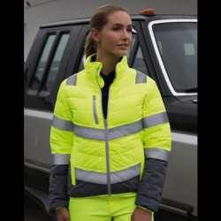 Womens Soft Padded Safety Jacket RESULT