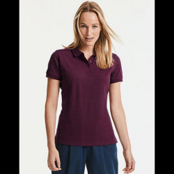 Ladie's Tailored Stretch Polo-RUSSELL